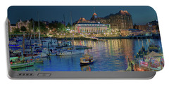 Victoria At Night Portable Battery Charger