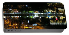 Victoria Inner Harbor At Night Portable Battery Charger