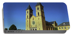 Portable Battery Charger featuring the photograph Victoria, Kansas - Cathedral Of The Plains 6 by Frank Romeo