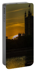 Victoria Tower In London Golden Hour Portable Battery Charger