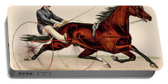 Victorian Horse Carriage Race Portable Battery Charger