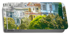 Victorian Painted Ladies Houses In San Francisco California Portable Battery Charger
