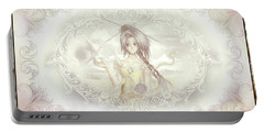 Portable Battery Charger featuring the mixed media Victorian Princess Altiana by Shawn Dall