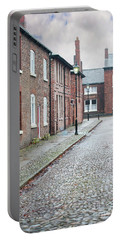Victorian Terraced Street Of Working Class Red Brick Houses Portable Battery Charger