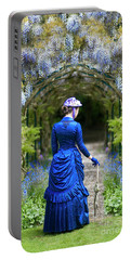 Victorian Woman With Wisteria Portable Battery Charger