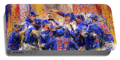 Victory At Last - Cubs 2016 World Series Champions Portable Battery Charger