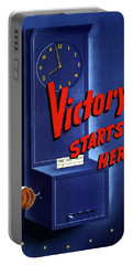 Victory Starts Here Portable Battery Charger