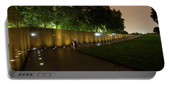 Vietnam Memorial By Night Portable Battery Charger