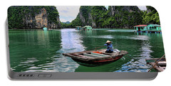 Vietnamese Woman Boat  Portable Battery Charger