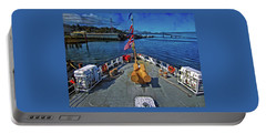 Portable Battery Charger featuring the photograph View From The Deck by Thom Zehrfeld