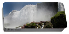 Portable Battery Charger featuring the photograph View From Below Of Niagara Falls by Jeff Folger