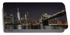 View From Brooklyn Bridge Park Portable Battery Charger