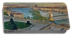 View From Castle Hill, Budapest, Hungary Portable Battery Charger by Jim Pavelle
