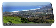 Portable Battery Charger featuring the photograph View From Cherry Hill, Barbados by Kurt Van Wagner