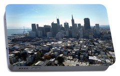 Portable Battery Charger featuring the photograph View From Coit Tower by Steven Spak