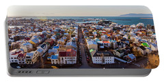 View From Hallgrimskirka Portable Battery Charger by Wade Courtney