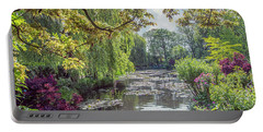 View From Monet's Bridge Portable Battery Charger