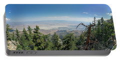 View From Mount San Jacinto Portable Battery Charger
