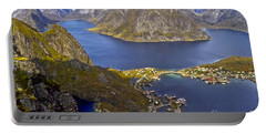 View From Reinebringen Portable Battery Charger by Heiko Koehrer-Wagner