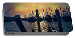 View From The Dock Portable Battery Charger by John Rivera