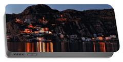 View From The Harbor St Johns Newfoundland Canada At Dusk Portable Battery Charger