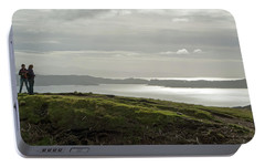 Portable Battery Charger featuring the photograph View From The Old Man Of Storr, Isle Of Skye, Uk by Dubi Roman