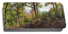 View From The Top Of Brown's Mountain Trail, Kings Mountain Stat Portable Battery Charger