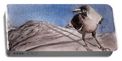 Portable Battery Charger featuring the painting View by Jasna Dragun