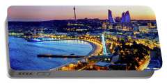 Portable Battery Charger featuring the photograph View Of Baku by Fabrizio Troiani