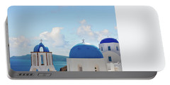 Caldera  Of Santorini Portable Battery Charger by Anastasy Yarmolovich