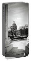 View Of Capitol Hill Through The Supreme Court Portable Battery Charger