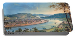 View Of Cincinnati From Covington Portable Battery Charger by John Caspar Wild