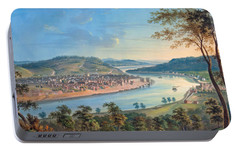 Portable Battery Charger featuring the painting View Of Cincinnati From Covington by John Caspar Wild