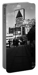 View Of Citgo Sign From David Ortiz Bridge, Boston, Massachusetts Portable Battery Charger