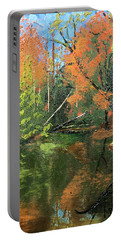 View Of Creek From Lake Huron Portable Battery Charger