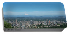 View Of Downtown Portland Oregon From Pittock Mansion Portable Battery Charger