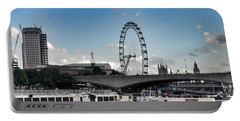 View Of London Eye  Portable Battery Charger