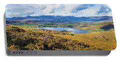 View Of Lough Acoose In Ballycullane From The Foothill Of Macgil Portable Battery Charger by Semmick Photo