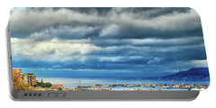 Portable Battery Charger featuring the photograph View Of Messina Strait Sicily With Dramatic Sky by Silvia Ganora
