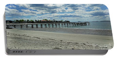 View Of Pier. Fisherman's Beach, Swampscott, Ma Portable Battery Charger