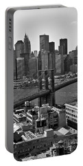 View Of The Brooklyn Bridge Portable Battery Charger