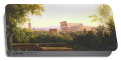 View Of The Colosseum From The Orti Farnesiani Portable Battery Charger
