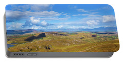 View Of The Mountains And Valleys In Ballycullane In Kerry Irela Portable Battery Charger by Semmick Photo
