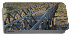 View Of The Wooden Bridge In Quinta Do Lago Portable Battery Charger by Angelo DeVal