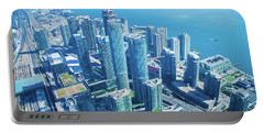 View Of Toronto Waterfront From Cn Tower Portable Battery Charger