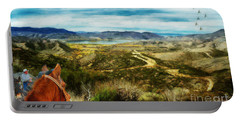 View Of Vail Lake On Horseback Portable Battery Charger