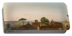 View On The Quirinal Hill. Rome Portable Battery Charger by Simon Denis