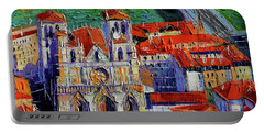 View Over Cathedral Saint Jean Lyon Portable Battery Charger