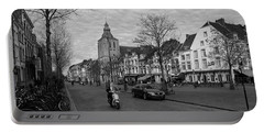 Portable Battery Charger featuring the photograph View To The Bosch Street In Maastricht by Nop Briex
