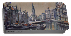 View To The Mint Tower Amsterdam Portable Battery Charger by Nop Briex